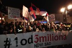 "Protest ""Jedan od pet miliona"" u Novom Sadu (FOTO i VIDEO)"