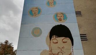 Finiš oslikavanja murala posvećenog srpsko-američkim košarkaškim legendama na Bulevaru oslobođenja