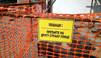 """Radovi """"Toplane"""" zatvaraju deo pešačke staze u Dalmatinskoj ulici"""