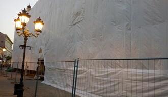 FOTO: Počela rekonstrukcija fasade Vladičanskog dvora
