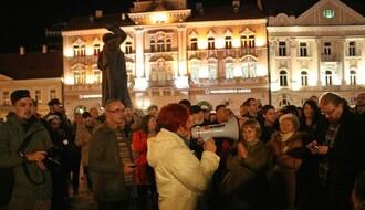 Protest novinara na Trgu slobode (FOTO)