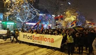 """NOVI SAD: Treći protest """"Jedan od pet miliona"""" u petak 1. februara"""