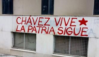 Grafiti podrške predsedniku Venecuele na novosadskim zidovima