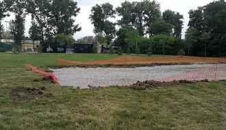 LIMANSKI PARK: Počeli radovi na izgradnji košarkaških terena