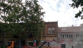 Investitor skinuo krov zgrade u Jevrejskoj ulici, kiša poplavila stanove