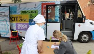 """FOTO: Mobilni punkt za vakcinaciju stigao u Kampus; Cvjetićanin: Do sada imunizovano """"blizu 250.000"""" Novosađana"""