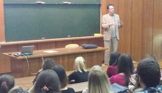 Ministar Verbić održao predavanje studentima PMF-a