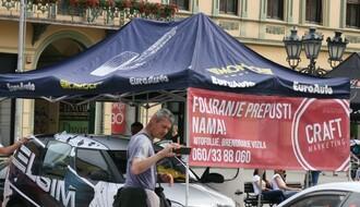 FOTO: Promocija trka na Mišeluku na Trgu slobode