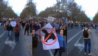 NOVI SAD: Počeo protest protiv izbornih rezultata