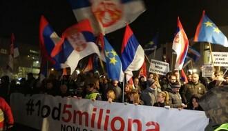 """Na Dan državnosti peti protest """"1 od 5 miliona"""" u Novom Sadu"""