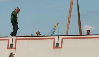 FOTO NADZOR: Pojavili se radnici na gradilištu Žeželjevog mosta
