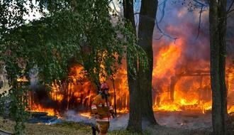 Požar u odgajivačnici pasa na Tekijama