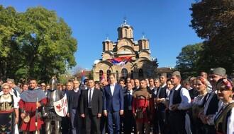 """FOTO: Gradonačelnik Vučević podržao """"Srpsku listu"""" na mitingu u Gračanici"""