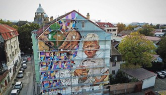 "FOTO I VIDEO: Novi mural ""Lančane reakcije"" u Šafarikovoj ulici"