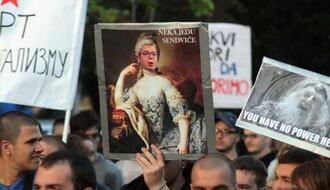 FOTO:Protest protiv diktature u Novom Sadu, deveti dan