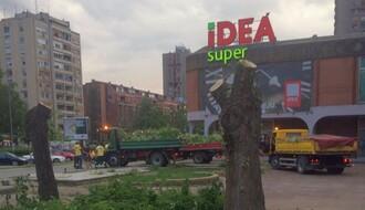 Protest protiv izgradnje poslovne zgrade danas na Bulevaru oslobođenja