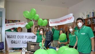 """Omladinci """"Zelene stranke"""" protestovali u """"Američkom kutku"""""""