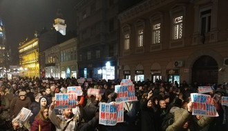 """Sedmi protest """"Jedan od pet miliona"""" u petak u Novom Sadu"""