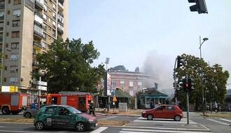 FOTO: Požar u kiosku brze hrane kod stadiona Karađorđe