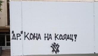 Grafit sa pozivom na ubistvo dr Kona osvanuo na Novom naselju, gradonačelnik ga oštro osudio