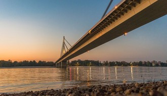Zatvoren deo Mosta slobode