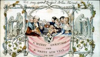Prve novogodišnje čestitke, novosadske