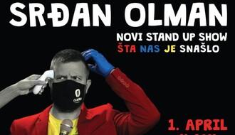 Stendap komičar Srđan Olman nastupa 1. aprila u bioskopu Arena Cineplex