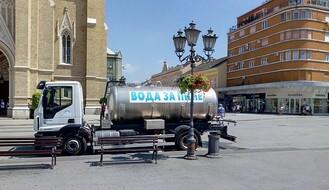 Cisterne s vodom od popodneva na tri lokacije u gradu