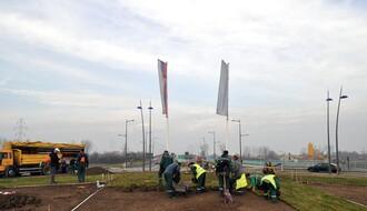 BULEVAR EVROPE: Radovi na ozelenjavanju kružnog toka pri kraju