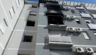 FOTO: Izgoreo stan u ulici Petra Drapšina, četvoro povređeno