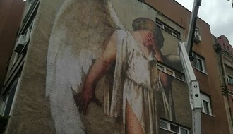 "Novi mural, ""Anđeo mira"", osvanuo na Trgu neznanog junaka"