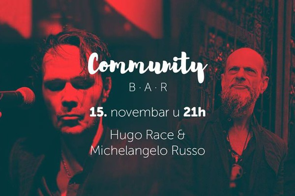 Hugo Race, bivši gitarista Nick Cave-a, u Community baru