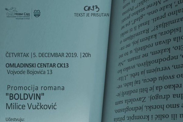 "Promocija romana ""Boldvin"" Milice Vučković"