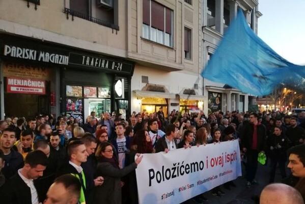 """Studentski protest """"1 od 5 miliona"""" u NS: Pokušaj """"kontramitinga"""" funkcionera studentskih organizacija"""