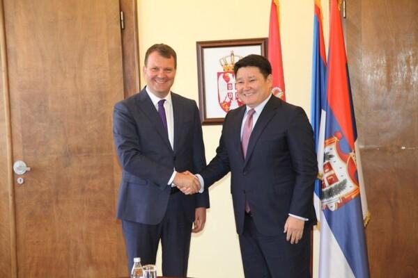 Mirović primio u posetu ambasadora Kazahstana (FOTO)