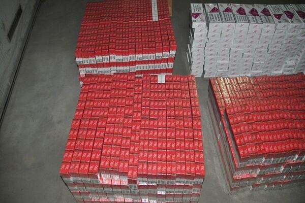 FOTO: Novosadska policija zaplenila 70.000 paklica cigareta