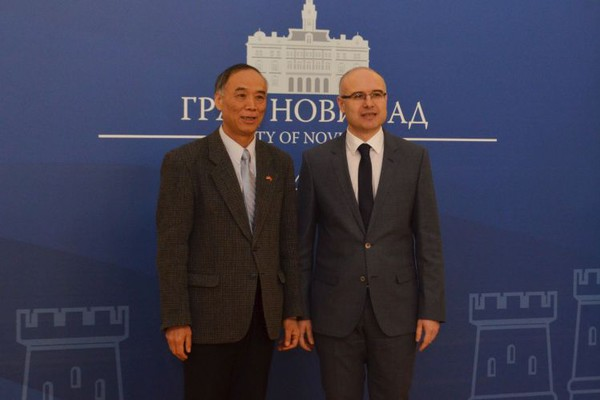 FOTO: Ambsador NR Kine posetio Novi Sad