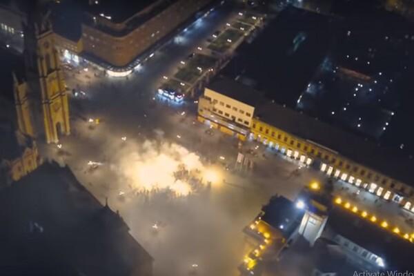VIDEO: Navijači FK Vojvodine napravili bakljadu u centru povodom rođendana kluba
