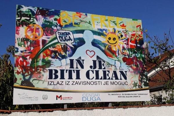 FOTO: Bilbordima na novosadskim ulicama protiv bolesti zavisnosti