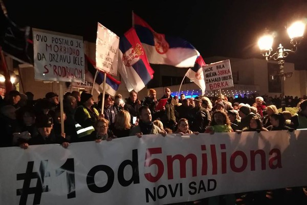 """Protest """"Jedan od pet miliona"""" u Novom Sadu (FOTO i VIDEO)"""