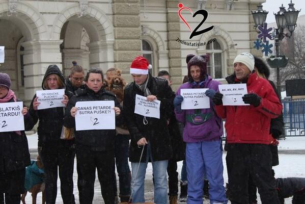 Održan protest protiv petardi