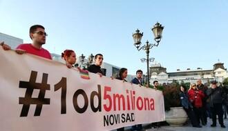 """""""1 OD 5 MILIONA"""": Novi protest i šetnja danas u Novom Sadu"""