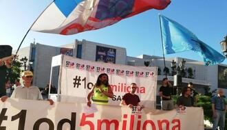 """""""1 OD 5 MILIONA"""": Novi protest protekao u osudi nasilja nad studentima (FOTO)"""