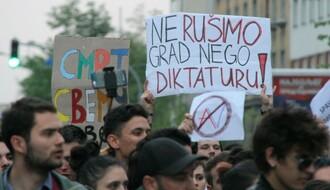 """Šesti """"Protest protiv diktature"""" u Novom Sadu"""