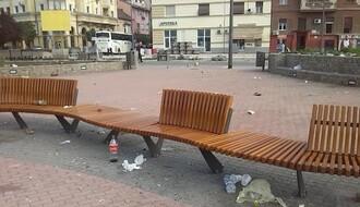 Smeće, flaše, ostaci od hrane: Ovako izgleda Trg republike