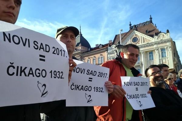 Slab odziv Novosađana na protest posvećen lošoj bezbednosnoj situaciji u  gradu FOTO