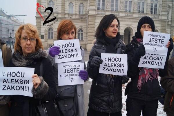 """Održan protest za """"Aleksin zakon"""" i zaštitu fotografije kao autorskog dela"""