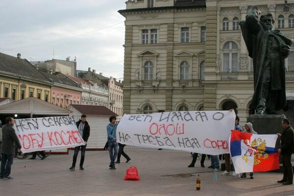 FOTO Kontraprotest: Reporteri brojniji od mitingaša