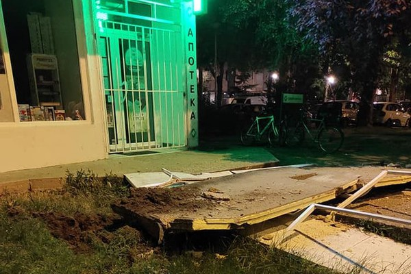 FOTO: Deo terase pao sa šestog sprata zgrade na Limanu